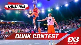 Dunk Contest w/ Lipek & Kristaps - Lausanne - 2015 FIBA 3x3 World Tour