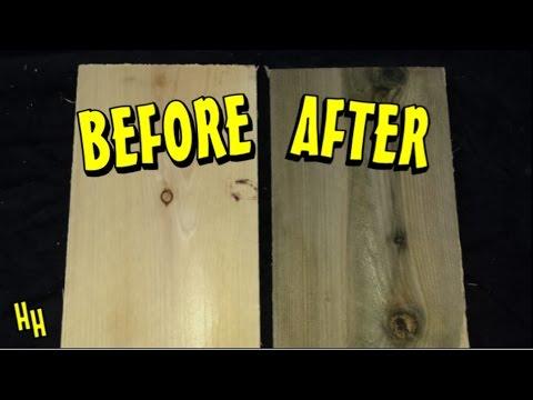 Aging Wood - Vinegar & Steel Wool Solution