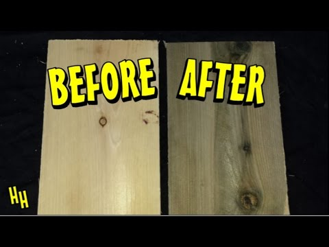 Aging Wood Vinegar Amp Steel Wool Solution Easy Youtube