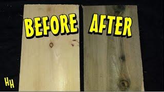 Aging & Oxidizing Wood | Vinegar & Steel Wool Solution (easy) Stain New Wood To Look Old & Vintage
