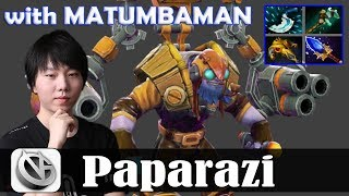 Paparazi - Tinker MID | with MATUMBAMAN (Lone Druid) | Dota 2 Pro MMR  Gameplay