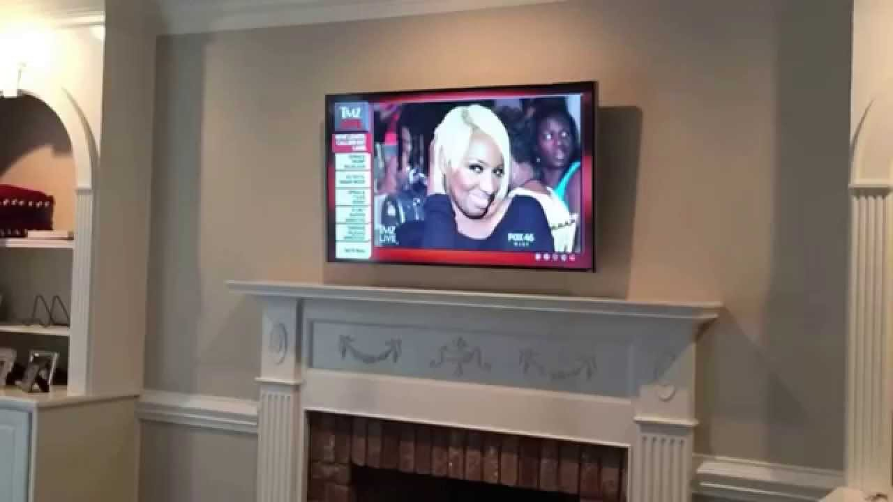 Tv On Fireplace Installation And Mounting Youtube