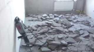 видео демонтаж пола, окон и дверей в квартире, Санкт-Петербург и Ленобласть