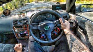 1993 Nissan Laurel C34 2.5 Turbo MT - POV TEST Drive / Тест драйв от первого лица