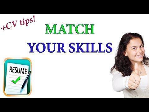 Match Your Skills To A Job - JOB SEARCH STRATEGIES
