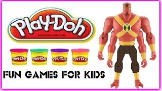 Ben 10 Omniverse Four Arms Play Doh Ben 10 4 Arms How To Make Play Dough Ben10