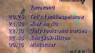 NCRV programmaoverzicht na het journaal (12-9-1992)