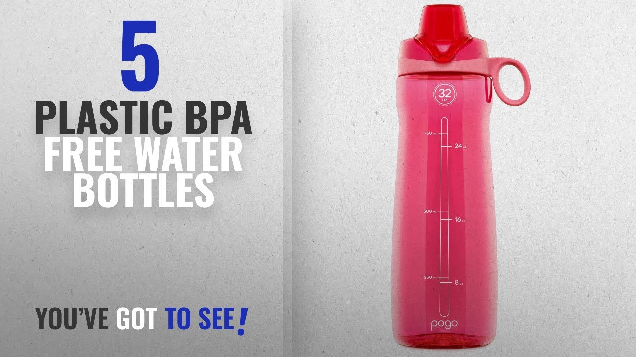 Best Plastic Bpa Free Water Bottles [2018]: Pogo BPA-Free Plastic Water  Bottle with Chug Lid, Pink,