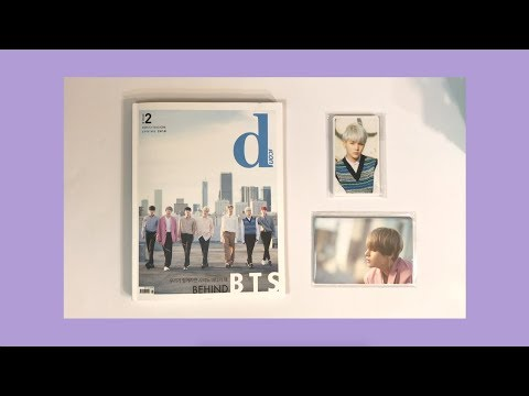 🔍💜BTS 방탄소년단 Dispatch DICON Behind BTS Magazine, Photocards & Postcards Unboxing | sugabey