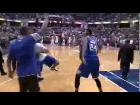 Paul George's half-court to end the first half ( Heat Vs Pacers 26th March 2012)
