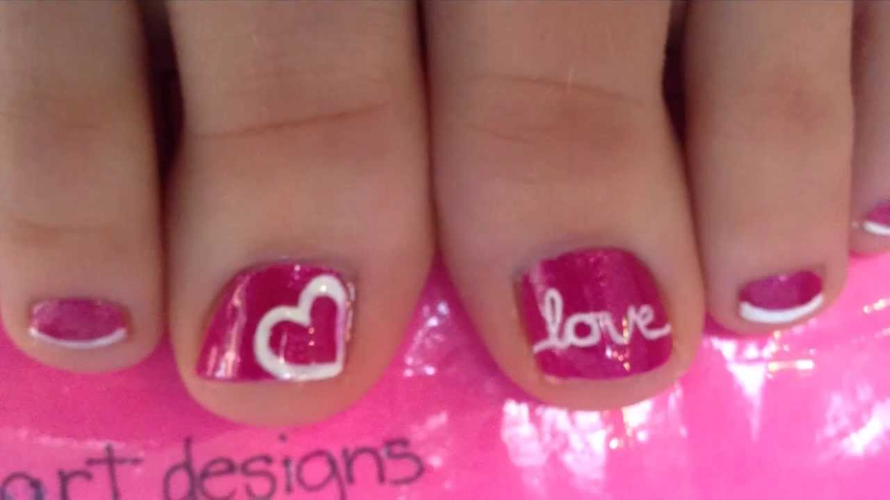 Old Fashioned Toe Nail Designs Valentines Inspiration - Nail Art ...