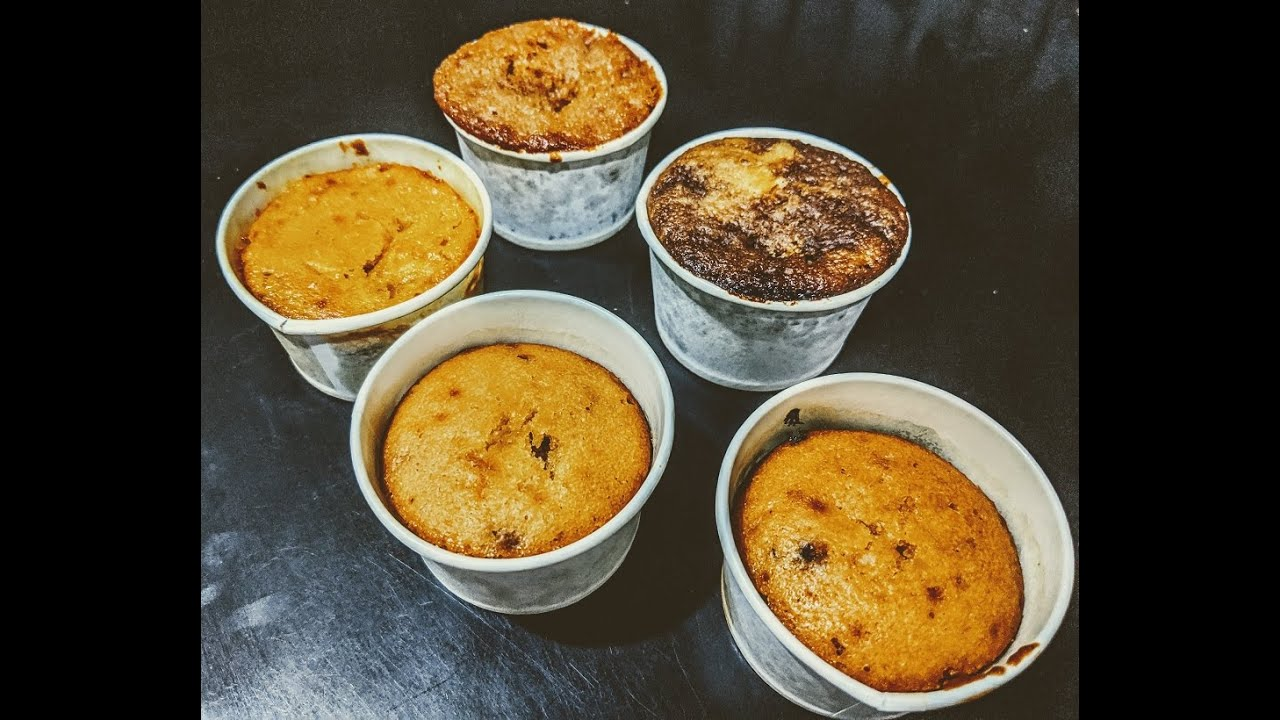 5 FLAVOURED EGGLESS CUPCAKES IN PAPER CUPS  How to make Different Flavoured cup cakes from 1 batter