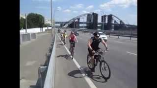 Экстрим вело-тур субботнего дня, набережная Днепра