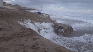 08 Januari 8th 2019/ Storm aan Zee - Zandafslag/Bergen Aan Zee /Storm at Sea