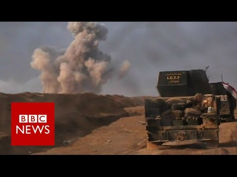 Mosul: Iraqi forces under fire in battle for IS-held city - BBC News