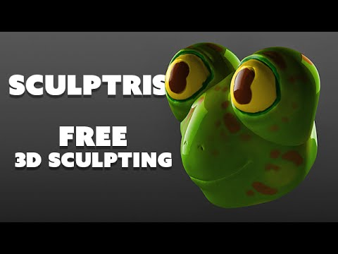 Free 3D Sculpting software for beginners - SCULPTRIS thumbnail