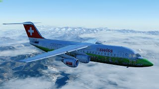 [P3D v4.3] First Time Flying the Jumbolino! | QualityWings Avro RJ100 at Zurich