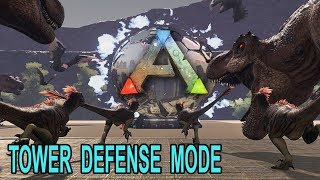 💥 Ark TOWER DEFENSE MODE!! This is AWESOME!! Ark Survival Evolved Tower Defense Mod Showcase