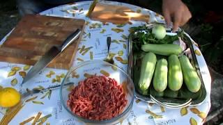 Очень вкусный рецепт из кабачков с фаршем от Джекстроу. Кабачки на гриле - вкусно и просто.