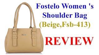 Fostelo Women 39 s Shoulder Bag Beige Fsb-413 - Review Som Tips