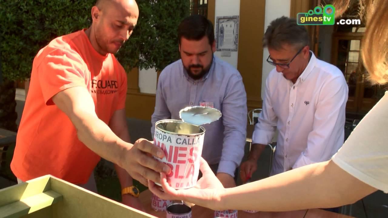 Gines recoge 7.818,27 euros en apenas unas horas para ayudar a los refugiados