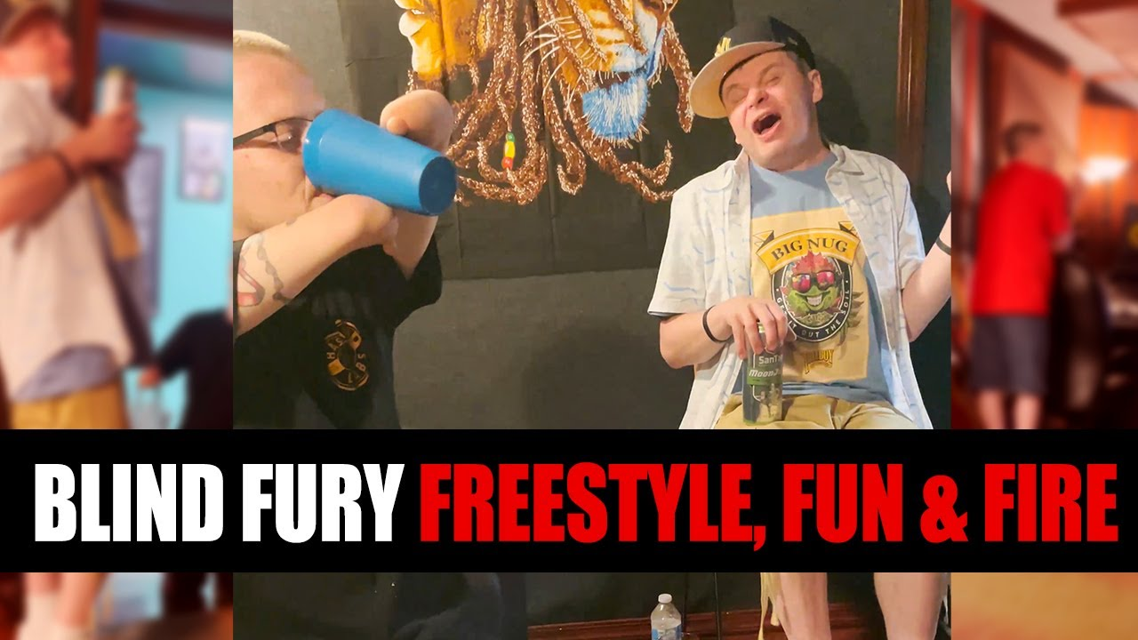 BLIND FURY FIRE FREESTYLES and FUN at Only Dreamers Studio
