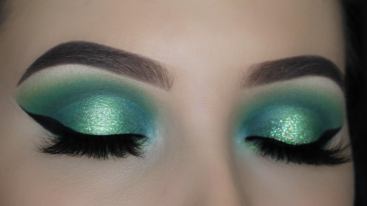 Green Halo Eye Makeup Tutorial Youtube