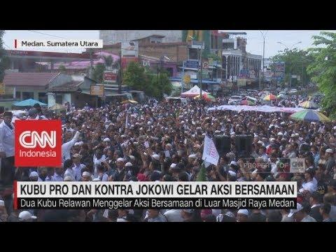Di Saat Ribuan Massa Pro & Kontra Jokowi Gelar Aksi Bersamaan