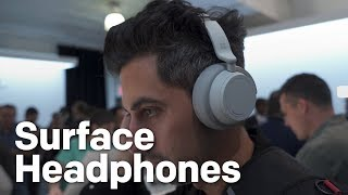 Surface Headphones hands-on: Advanced noise cancelling, Cortana, and Surface style