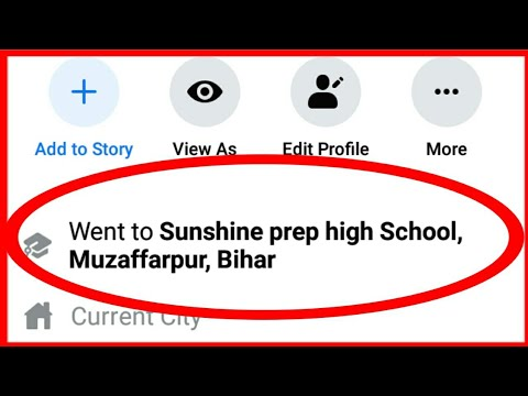 How To Add, Change & Delete High School Name In Facebook