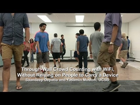 Through-Wall Crowd Counting with WiFi, Without Relying On People to Carry a Device