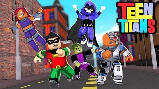 JOINING THE TEEN TITANS IN ROBLOX! (ROBLOX TEEN TITANS SIMULATOR)