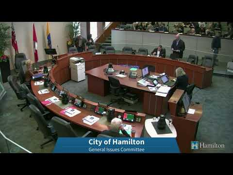 Hamilton City Council General Issues Committee (Budget) for January 30, 2018