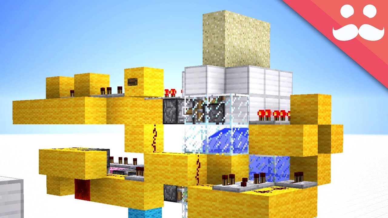 Making WATER POWERED DOORS in Minecraft! [Snapshot!]  sc 1 st  YouTube & Making WATER POWERED DOORS in Minecraft! [Snapshot!] - YouTube