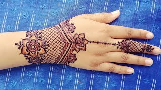 Simple Jewellery Mehndi Design with Image - Easy Ornamental Henna Design