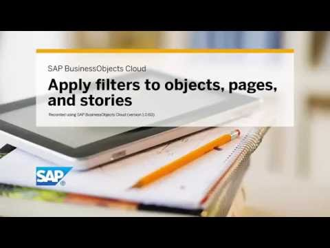 Apply filters to objects, pages, and stories: SAP BusinessObjects Cloud (1.0.60)