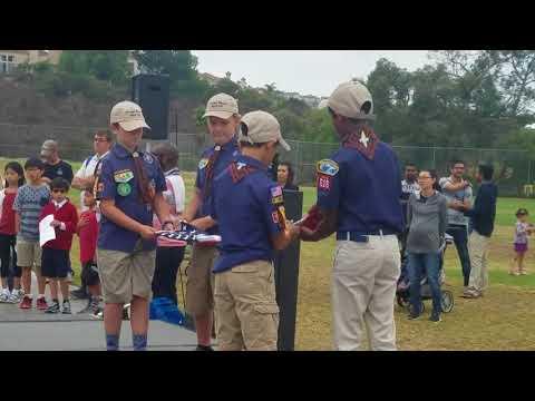 Dingeman Elementary School Veteran's day Flag ceremony