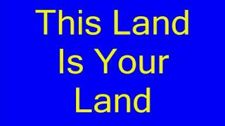 This Land Is Your Land karaoke