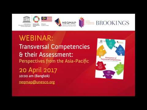 UNESCO Webinar on Transversal Competencies & their Assessment: Perspectives from Asia-Pacific