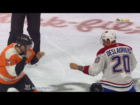 Nicolas Deslauriers vs Brandon Manning Feb 20, 2018