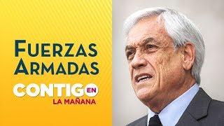 Sebastián Piñera firmó proyecto que da atribuciones a Fuerzas Armadas - Contigo en La Mañana