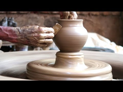 clay pot Making | small pot | water pot making with clay | clay Art | Creative Art Forms