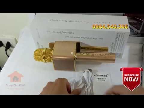 Hướng Dẫn Micro Kèm Loa Bluetooth Cao Cấp AoDasen JY-50 Giá Tốt - Kết Nối Máy Tính, Điện Thoại