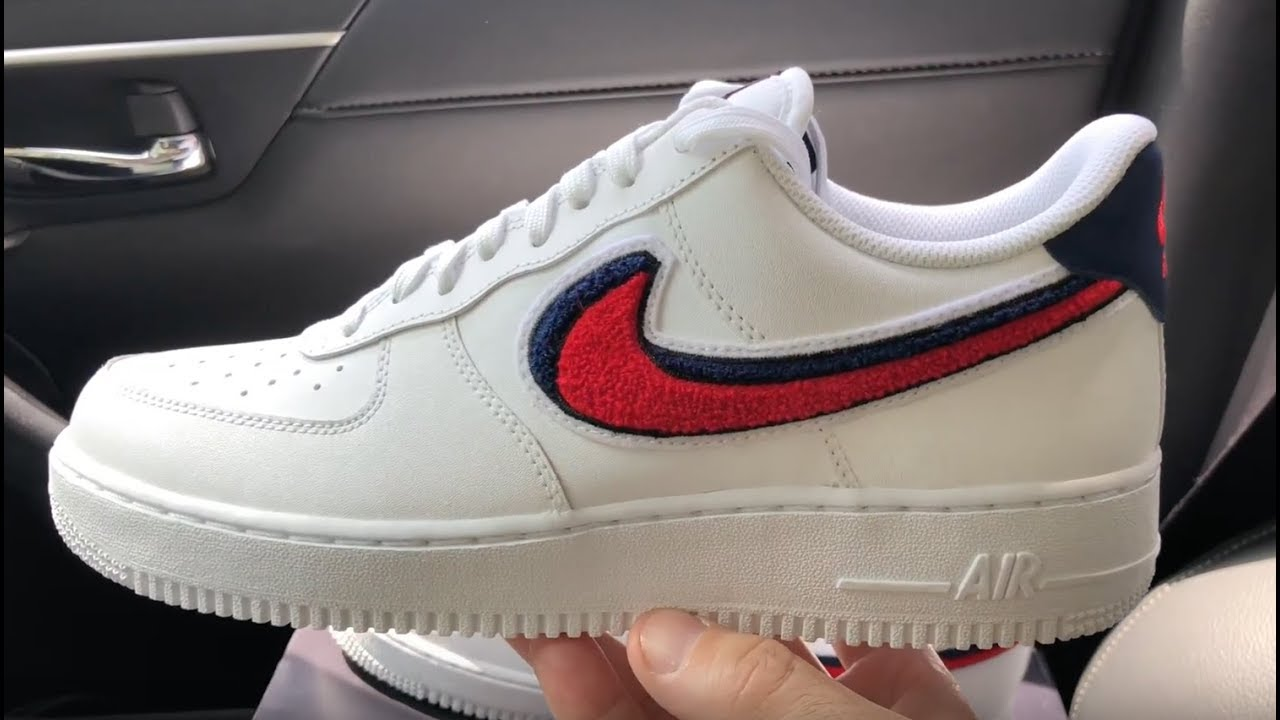 low priced a914e 1823d Nike Air Force 1 Low 3D Chenille Swoosh sneaker