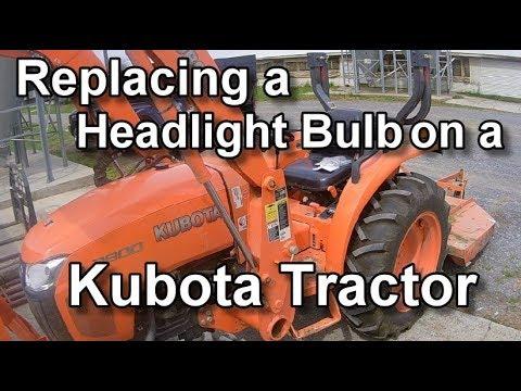 Kubota Headlight Bulb Replacement