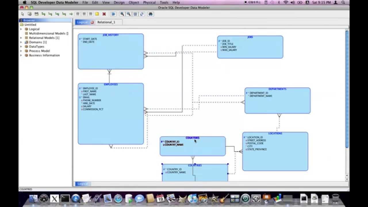 Oracle SQL Developer Data Modeler : reverse engineering - YouTube