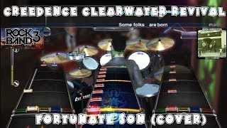 Creedence Clearwater Revival - Fortunate Son (Cover) - @RockBand DLC Full Band Playthrough