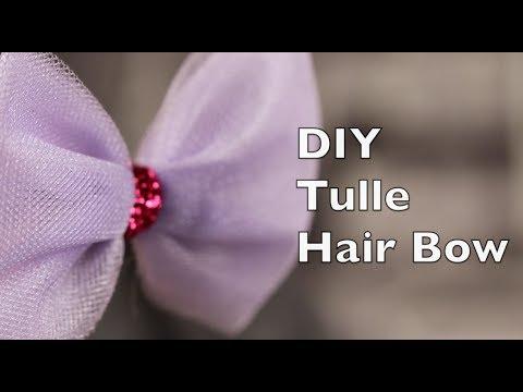 make hair bow tulle