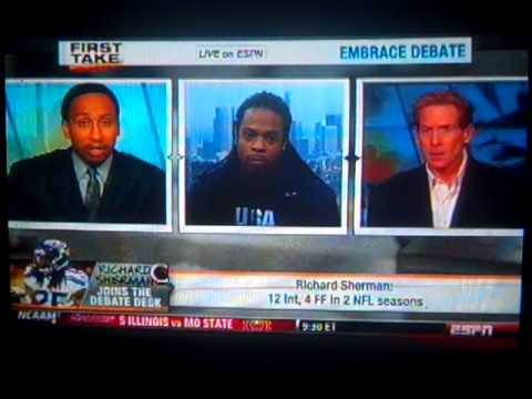Richard Sherman VS Skip Bayless (UNEDITED)