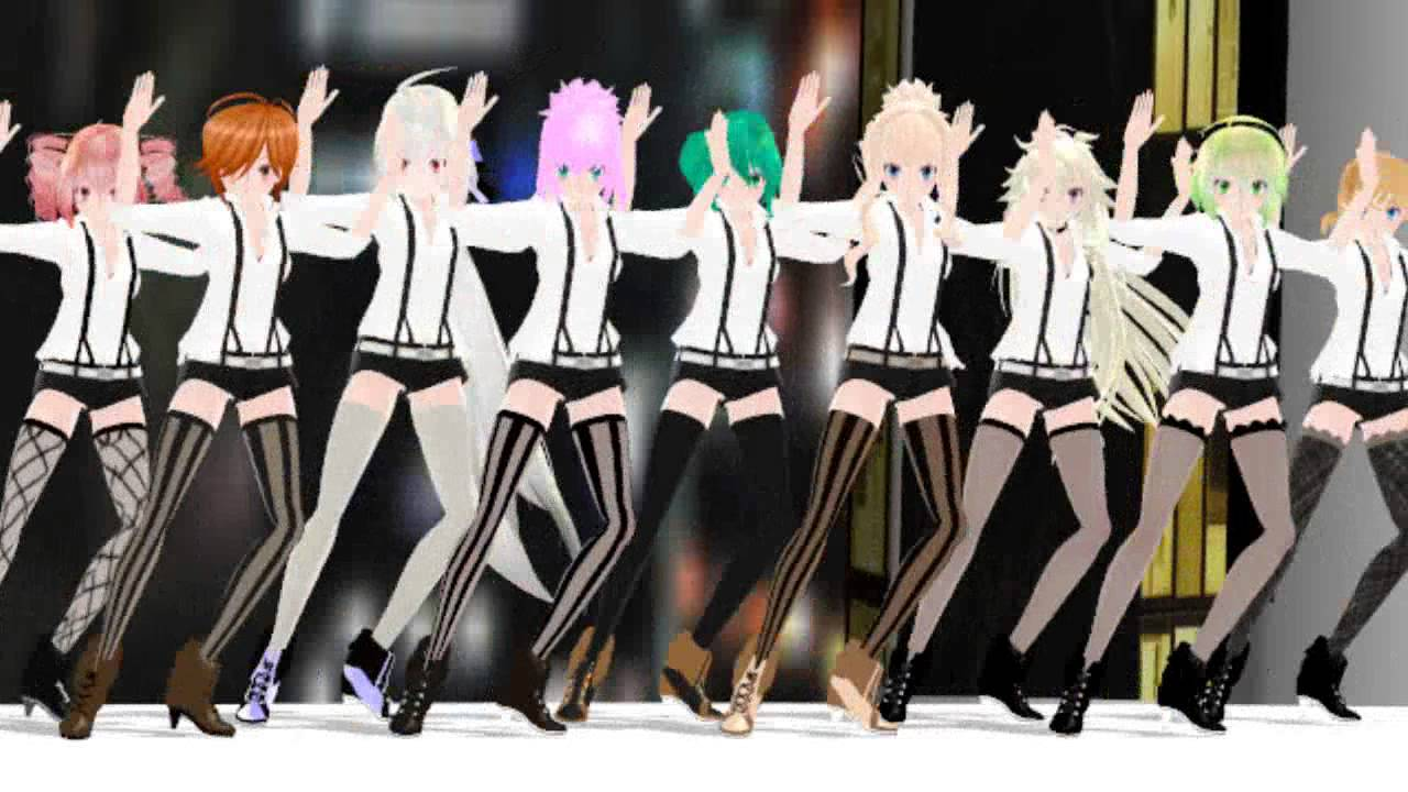 Mmd hatsune miku cosplay conejitos playboy dancing apple pie - 4 6